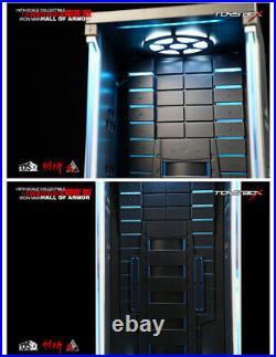 1/6 Iron Man Hangar Figure Box Movie Model Display Closed Dustproof Show Case