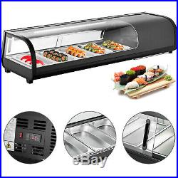 1.83 cu. Ft. Sushi Bar Showcase Countertop Sushi Cooler Display Refrigerators