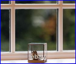 10¹² Terra Showcase 100 Oak, Glass & Copper Ornament Display Case Box