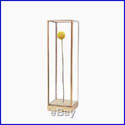10¹² Terra Showcase Long Oak, Glass & Copper Dry Flower Ikebana Display Case
