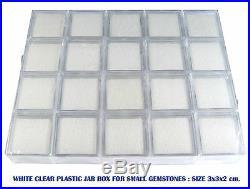 100 PCS OF CLEAR PLASTIC JAR BOX GEMSTONE JEWELRY DISPLAY SHOW CASE NEW 3x3CM