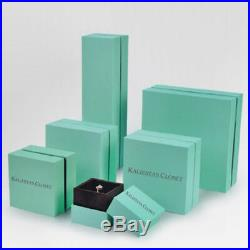 100x Stylish Pink Teal Blue Jewelry Box Brooch Rings Display White Showcase Box
