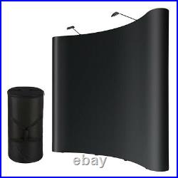 10x8ft PVC Trade Show Popup Display Booth Aluminum with Case 2 Halogen Spotlights