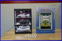 118 Scale 3 Shelf Diecast Display Case w LED Lights Car Showcase 3181865