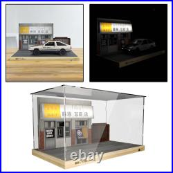 118 Scale Underground Garage Scene Display Showcase with LED Light for Car