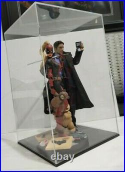 13.5 x 8.5 x 8.5 Clear Acrylic Display Box w BASE Showcase Store Hot Toys 1/6