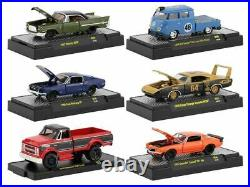 164 M2 Machines Auto Shows 56 - Set of 6 cars IN DISPLAY CASES
