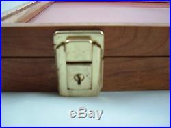 18 X 24 X 2 walnut showcase display wood collect case secure foam lining new