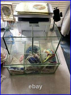 1900s Arrow Handkerchief Glass Display Showcase Case