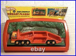1968 Mattel Hot Wheels Redline U. S. A. Car Carrier Showcase Plaque Display Nice