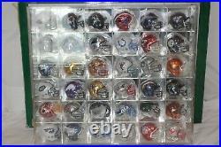 1999 Riddell Sports NFL Chrome Pocket Pro 36 Helmet Set/Acrylic Display Showcase