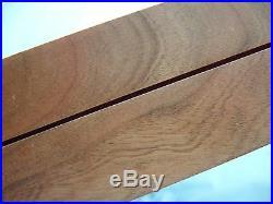 2-12 X 18 X 2 table top showcase display walnut wood secure foam lining