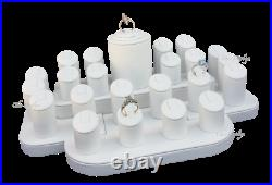 2-Sets Ring Display Stands White Ring Display Set Ring Holder Jewelry Showcase