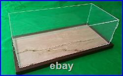 22 x 9 3/4 x 7 Pocher 1/8 Acrylic Display Case Showcase Wood Base for 18 Model