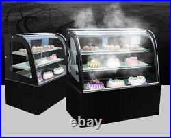 220V Refrigerated Display Case Commercial Pie Cake Showcase Cabinet Canada Stock