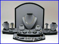 26pc Showcase Jewelry Display Stand Grey Display Set for Jewelry Store Displays