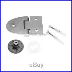2PCS 304 Stainless Steel Glass Clamps Hinge Showcase Display Wine Cabinet Hinges