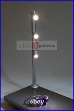 2x Retail display jewelry showcase LED silver pole light FY-53 4000K + UL power