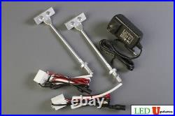 2x Showcase LED light 8 for display cabinet lighting FY-37 + UL Power supply