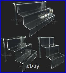 3 Tier Acrylic Jewelry Display Shelf Stand Store Display Acrylic Showcase Stand