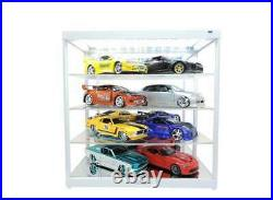 4-Layer Mirror Backed Display case 124th LEDs & USB TRIPLE 9 247840MBK MS or MW