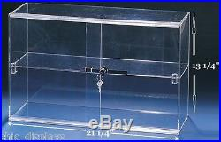 Acrylic Case acrylic Cabinet Counter Top Display cabinet acrylic Showcase withKey