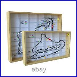 Acrylic Display Case with Wood Base Organizer Box for 1/64 Car Dustproof