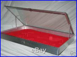 Aluminum Display 1150 Show Case for Knives Cards Gun Jewelry WithLiner