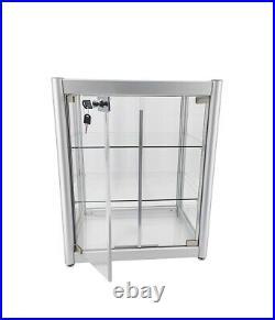 Aluminum Glass Display Showcase Swing Door withLock Bakery Stand Jewelry Box CBD
