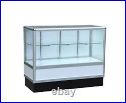 Aluminum showcase 2/3 vision 48 inch frame shelf retail store display