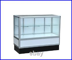 Aluminum showcase 2/3 vision 70 inch frame shelf retail store display