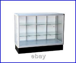 Aluminum showcase full vision 48 inch frame shelf retail store display