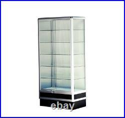 Aluminum wall showcase 34LX72HX20D frame shelf retail store display