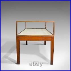 Antique Desktop Showcase, English, Bronze, Mahogany, Display Cabinet, Edwardian