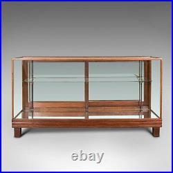 Antique Haberdasher's Display Cabinet, English, Mahogany, Showcase, Edwardian