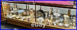 Antique Oak Bakers Display Case Beautiful 10' Vintage Display Showcase