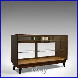 Antique Shopfitting Display Cabinet, English, Mahogany, Oak, Showcase, Edwardian