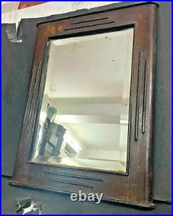 Antique Vintage Decoprative Wooden Wall Mirror & Display Bathroom Show-case