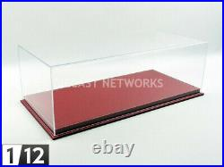 Atlantic Case 1/12 Display Case Show-case 1/12 Mulhouse Red Leather 10091