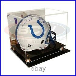 BCW Deluxe Acrylic Full Size Football Helmet Display with Mirror showcase holder
