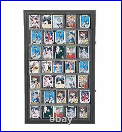 Baseball Card Display Sports Wall Mount Cabinet Tradecard Merchandiser Showcase