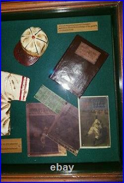 Beautiful BABE RUTH, Orioles The Game of Baseball Glass&Wood Showcase Display