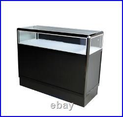 Black aluminum showcase 1/3 vision 48 inch frame shelf retail store display