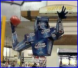 Bud Light NFL QUARTERBACK Big DISPLAY NIB Rare football Beer Man Cave Showcase