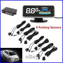 Car Parking Sensor 8 Rear&Front View LCD Display Reverse Backup Radar System Kit