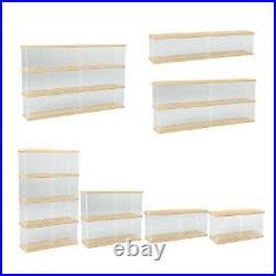 Clear Acrylic Display Case Countertop Box Stand Dustproof Showcase Toys