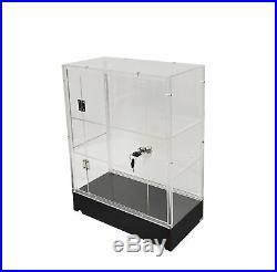 Clear Cabinet Acrylic Display Shelf Plexiglass Showcase Lock N Key Transparent
