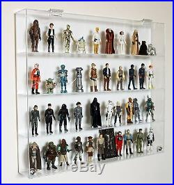 Collectors Showcase Premium Display Case for 3-3/4 Star Wars Figures T3MS