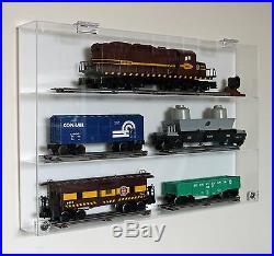 Collectors Showcase Premium Display Case for Lionel Model Trains S2MS