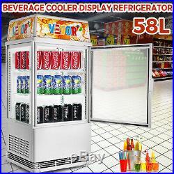 Commercial Beverage Refrigerator 58L Countertop Display Cooler Drink Show Case